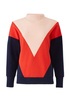 Colorblock Turtleneck Sweatshirt by Scotch & Soda