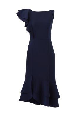 Navy Amurra Dress by Shoshanna