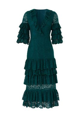 Emerald Lace Millie Dress by Saylor