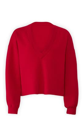 Sculpted Cropped Pullover by Tibi