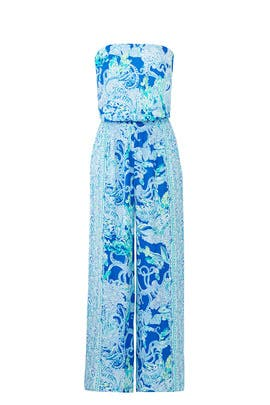 Pim Blue Jumpsuit by Lilly Pulitzer