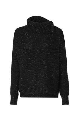 Black Snap Turtleneck by Michael Stars