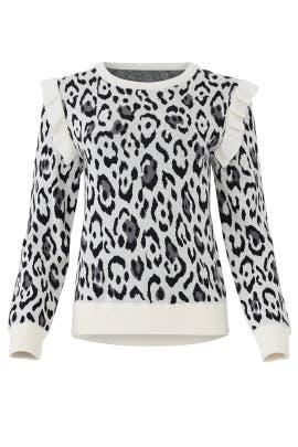 Leopard Heidi Sweater by Rachel Zoe