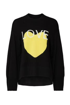Love Graphic Sweater by Victor Alfaro Collective