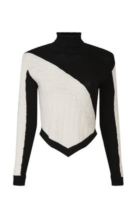 Asymmetric Cable Knit Sweater by Victor Glemaud