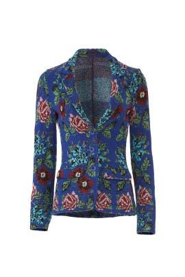 Blue Floral Blazer by Aldomartins