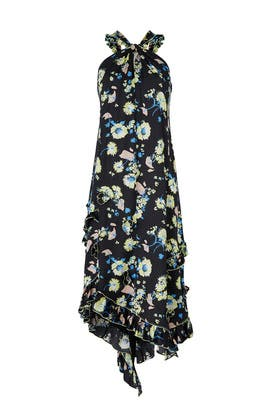 Black Floral Halter Dress by Derek Lam 10 Crosby