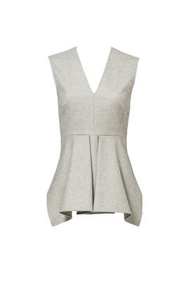 Grey Inverted Pleat Top by DEREK LAM