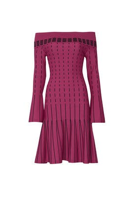 Stripe Off The Shoulder Dress by Prabal Gurung Collective