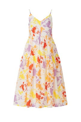 Sleeveless Floral Midi Dress by Peter Som Collective