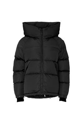 Black Sylivana Puffer Coat by SOIA & KYO