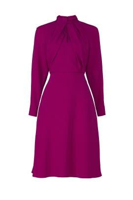 Pink Twist Neck Dress by Adam Lippes