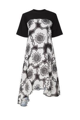 Contrast Asymmetric Panels Dress by Clu