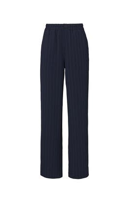Navy Striped Straight Pants by GANNI