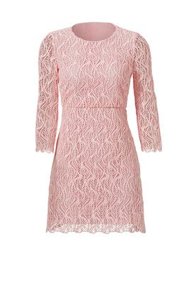 Pink Macrame Lace Dress by Giambattista Valli