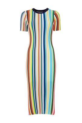 Rainbow Stripe Knit Dress by Milly