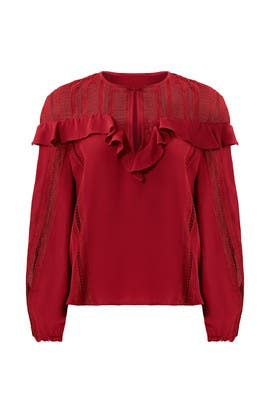Merlot Sylvia Top by Rebecca Minkoff