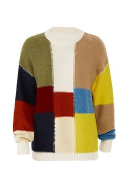 Patchwork Straight Sweater by See by Chloe