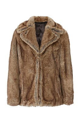 Earth Star Faux Fur Coat by Unreal Fur
