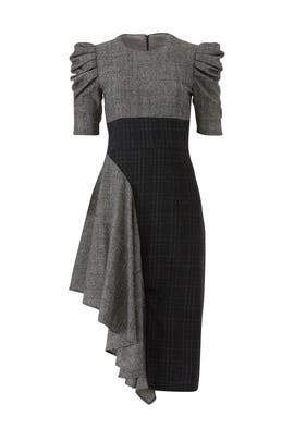 Grey Ruffle Uma Dress by AMUR