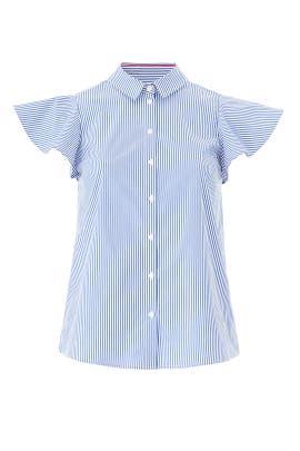 Button Down Shell Shirt by Draper James X ELOQUII