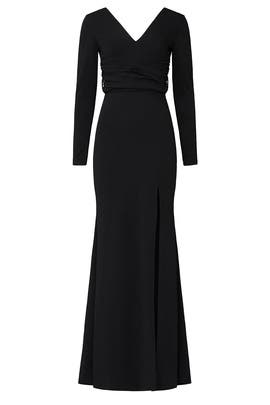 Black Carmen Gown by Dress The Population