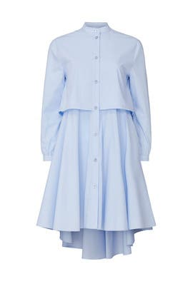 Blue Layered Swing Dress by Emporio Armani