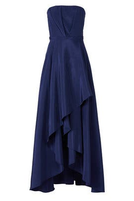 Navy Bailey Gown by Hunter Bell