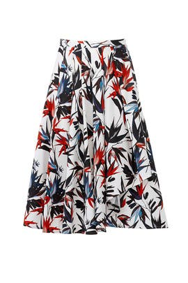 Printed Cascade Skirt by Jason Wu Collection