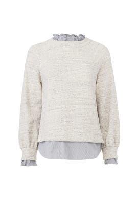 Striped Trim Sweater by La Vie Rebecca Taylor