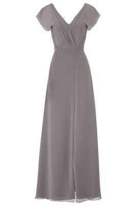 Grey Gwen Gown by Monique Lhuillier Bridesmaid