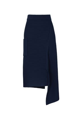 Origami Slit Skirt by Tibi