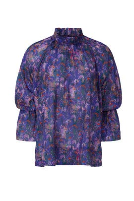 Printed Eden Top by Cynthia Rowley