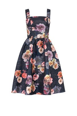 Black Floral Cocktail Dress by Christian Siriano