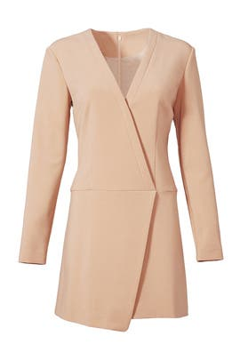 Camel Wrap Dress by CYNTHIA STEFFE