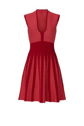 Red Knit Dress by Emporio Armani