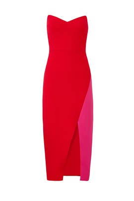 Red Colorblock Sheath by Jill Jill Stuart