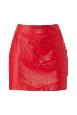Red Baddie Mini Skirt by MINKPINK