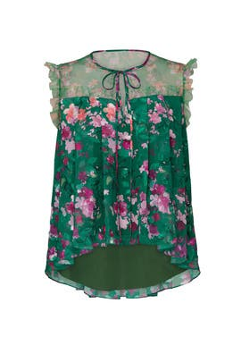Floral Chiffon Top by Marchesa Notte