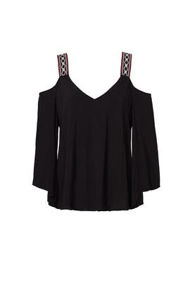 Black Catroina Top by Rebecca Minkoff