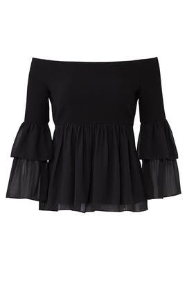 Black Charlotte Top by Rachel Zoe