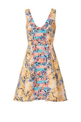 Orange Floral Jess Dress by SALONI