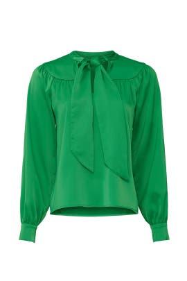 Green Tie Neck Blouse by Sweet Baby Jamie