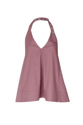 Dusty Plum Halter Top by Tibi