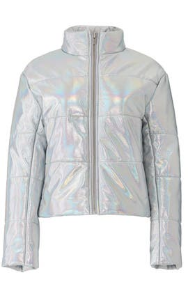 Sharpe Hologram Puffer Coat by VEDA