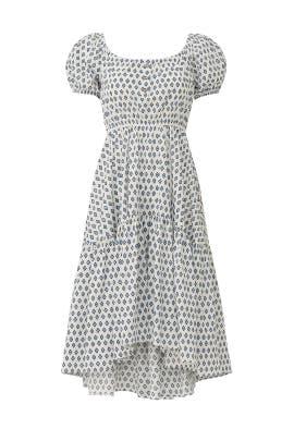 Bardot Flounce Dress by CAROLINE CONSTAS