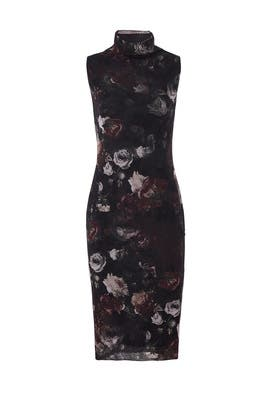 Dark Floral Sheath by Fuzzi