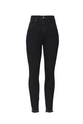 Good Curve Skinny Crop Chewed Hem Jeans by GOOD AMERICAN