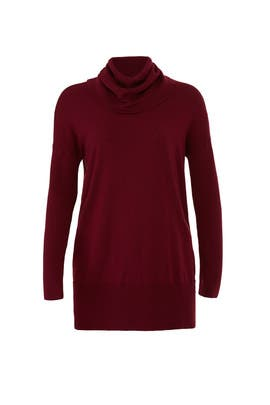 Wine Cowl Neck Sweater by Josie Natori