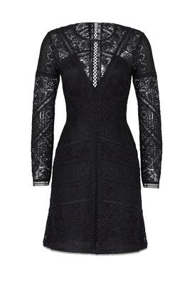 Laced Black Dress by The Kooples
